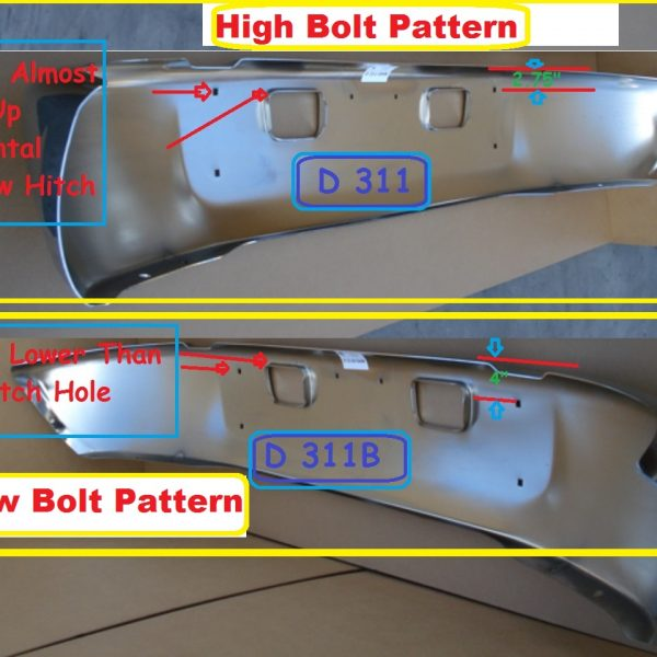 GMC / Chevrolet C4500 & C5500 Bumper: 2004 To 2008 High & Low Bolt Pattern, Chrome Steel