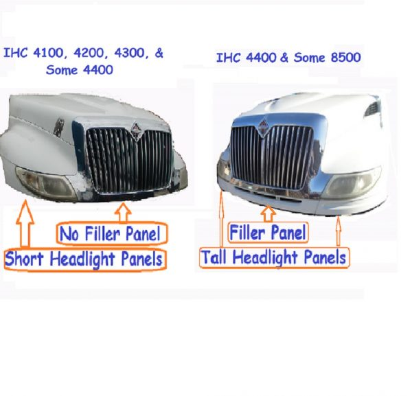 International 4200 / 4300 / 4400 Hood: Differences