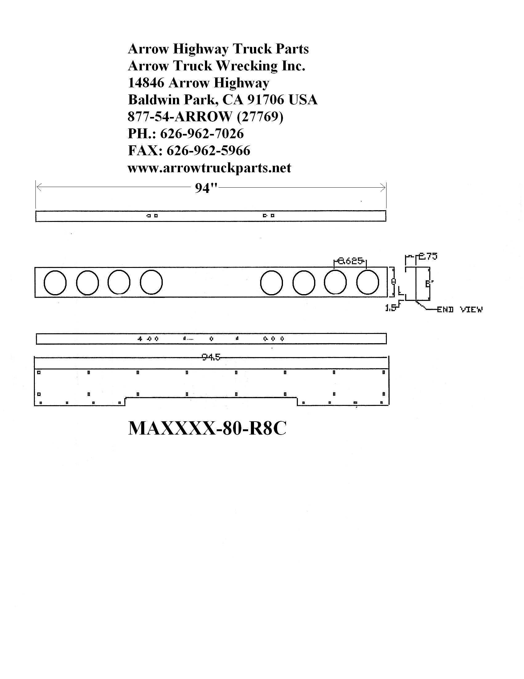 Bumpermaker   International 9400i  U0026 9200i Bumper
