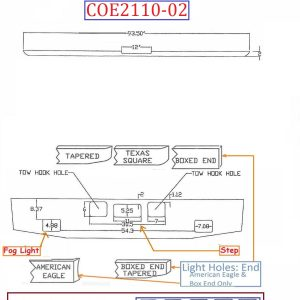 """BumperMaker: Freightliner Coronado 2010 & Up 12"""" Style (Wider Than 12"""" Requires Brackets)"""