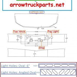 BumperMaker: Peterbilt 587 Set Back Axle Chrome Replacement Bumper