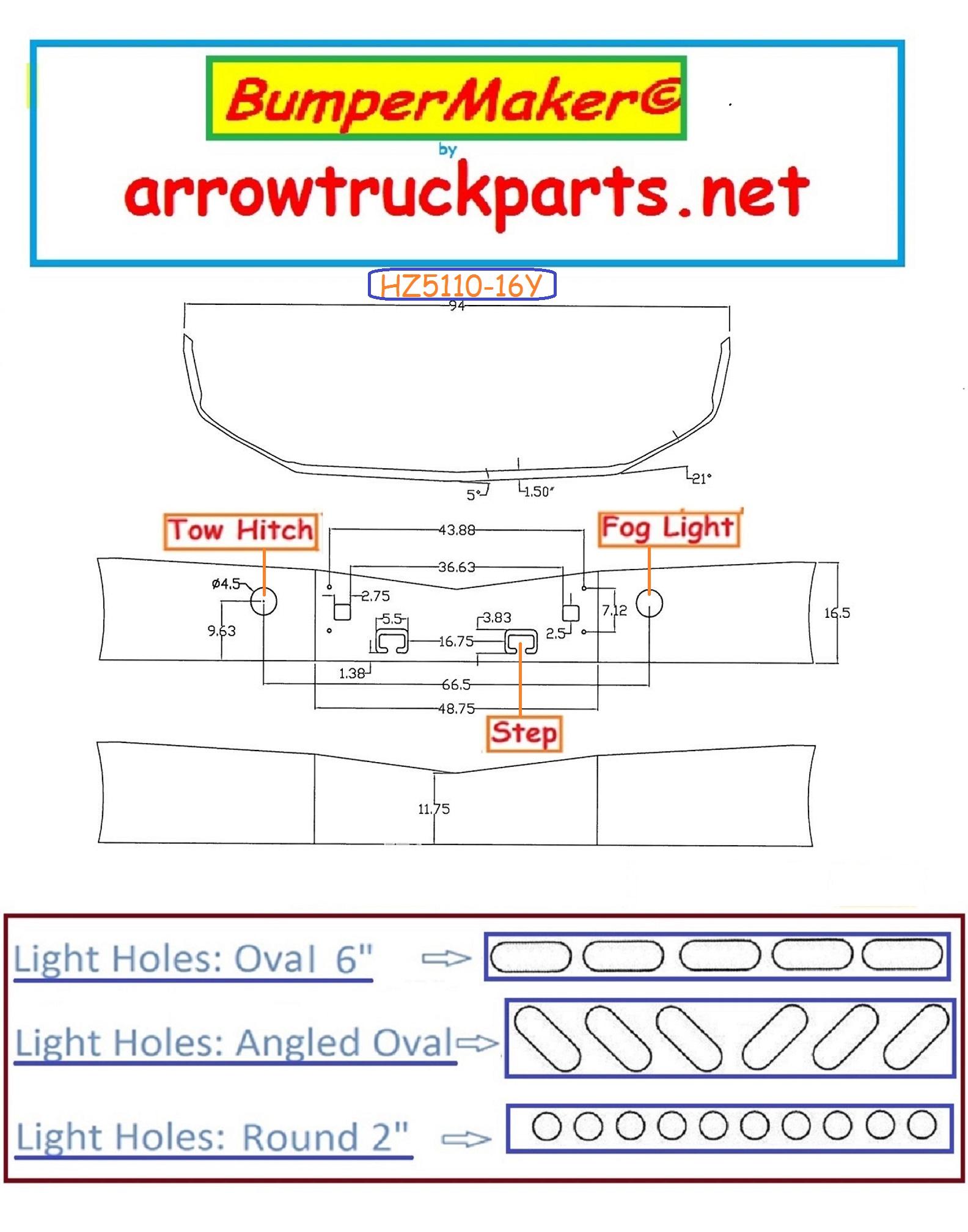 Bumpermaker  Peterbilt 579 Set Back Axle Chrome Replacement Bumper