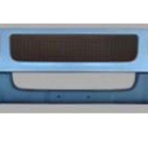 Mack CXU613 SBA Bumper: OEM Replica: Upper Chrome-Lower Plastic Valance W/ Fog, Step & Tow Holes