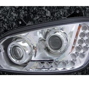 KW T660 Headlight-Chrome W/ 18 LED: Left
