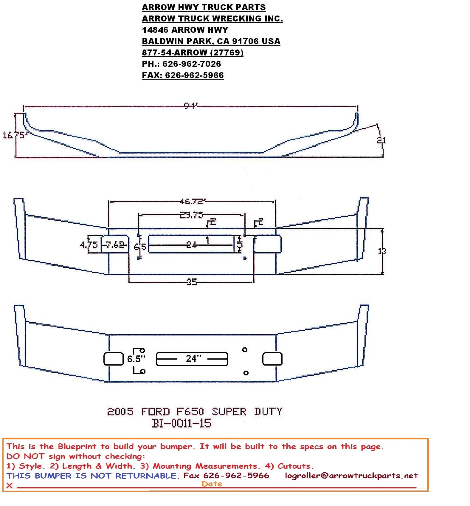 BumperMaker: Ford F650 F650 2004 & Newer Bumper on ford model a wiring harness, ford focus trailer harness, ford oem trailer wiring harness, ford trailer hitch plug,