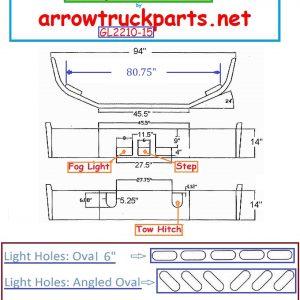 BumperMaker: Mack CH 613 SBA 1994 To 2004 Bumper