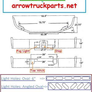 BumperMaker: Mack CH 613 SBA 1986 To 1993 Bumper