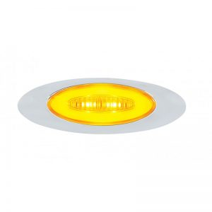 "M5: Amber LED & Amber Lens, 6 LED, 4 1/8"" x 1 3/8"" x 5/8"""