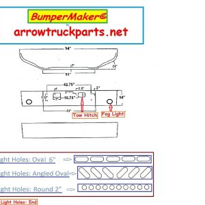 Bumpermaker 2004 to 2008 GMC Chevrolet C4500 & C5500
