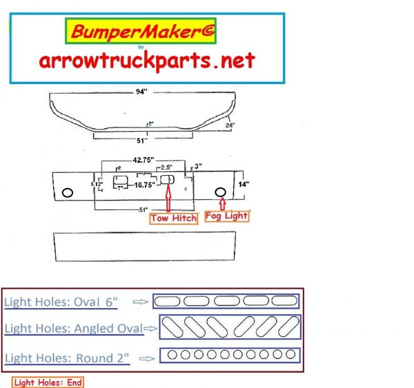 Bumpermaker 2004 to 2008 GMC Chevrolet C4500 & C5500