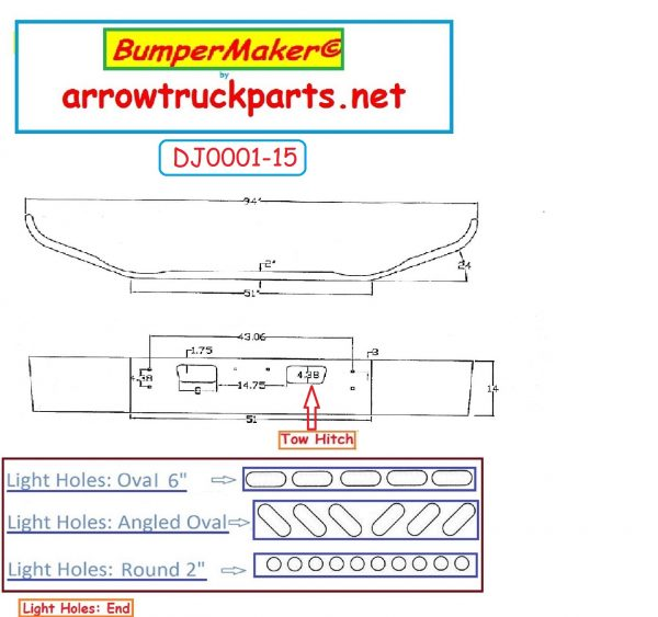 Bumpermaker 2004 to 2008 GMC Chevrolet C6500 & C7500