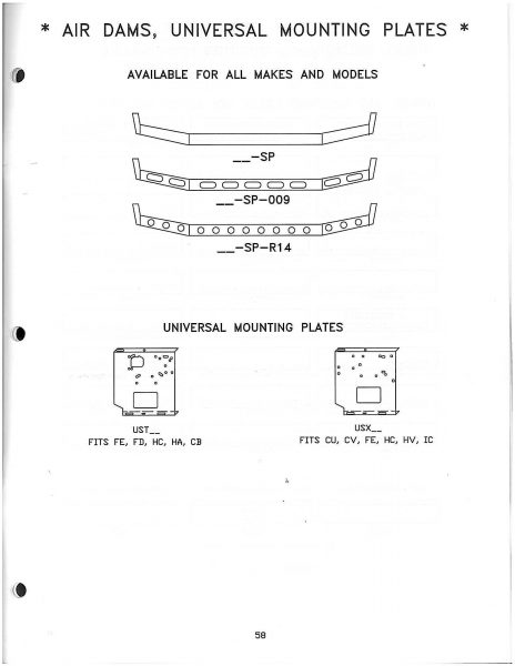 Universal Style Mounting/ Air Dam