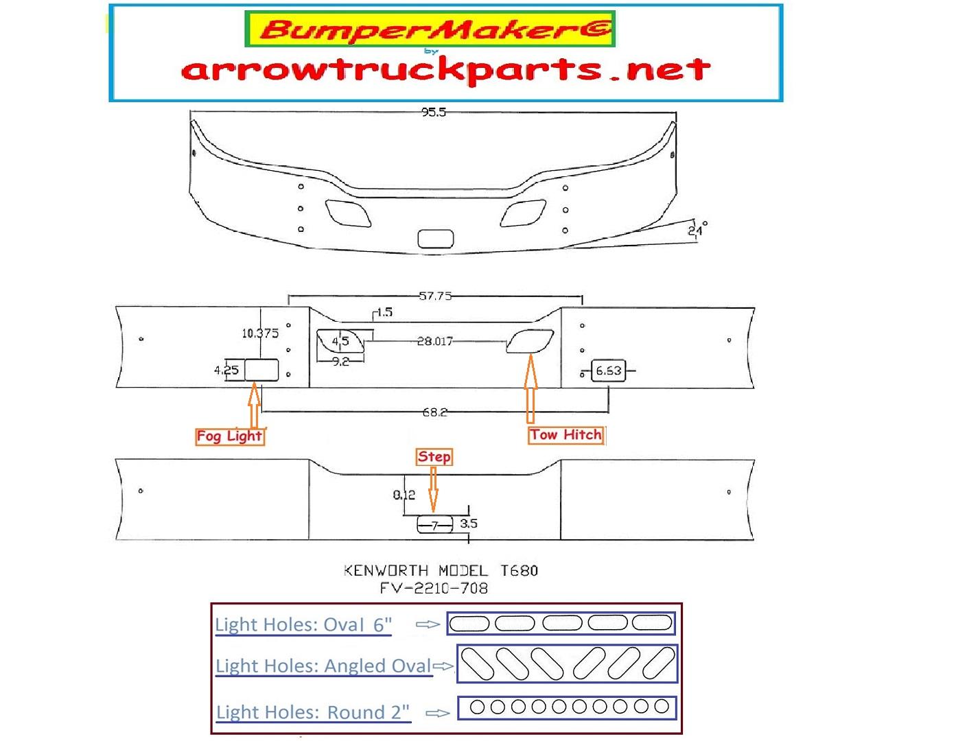 Bumpermaker Kenworth T680 Bumper T880 Wiring Diagram