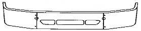 FRIGHTLNER COLUMBIA 120 BUMPER221C